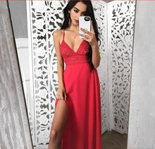 Load image into Gallery viewer, Elegant Evening Beach Maxi Dress