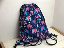 Load image into Gallery viewer, Classic Floral Canvas Drawstring Bag