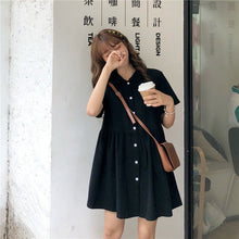 Load image into Gallery viewer, Retro Kawaii Leisure Shirt Dress