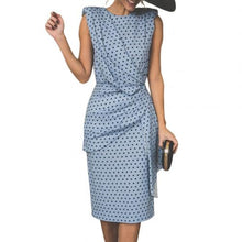 Load image into Gallery viewer, Polka Dot Pleated Bodycon Dress