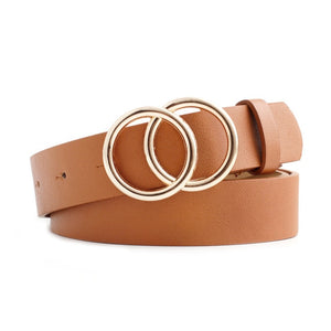 Dual Gold Ring Buckle Belt