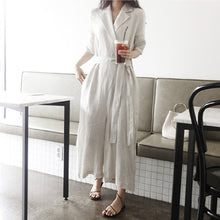 Load image into Gallery viewer, New Autumn Jumpsuits Casual Cotton and Linen Wide Leg Ankle-Length