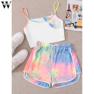 Gradient Tie-Dye Two-Piece OutFit