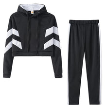 Load image into Gallery viewer, Ropa Patchwork Hoodie Two-Piece OutFit