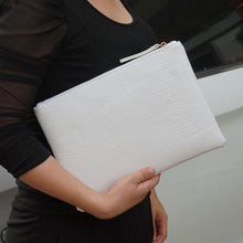 Load image into Gallery viewer, Crocodile Envelope clutch