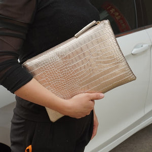 Crocodile Envelope clutch