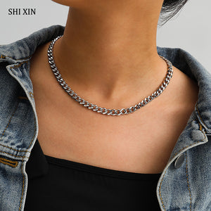 Chunky Stainless Steel Chain Necklace