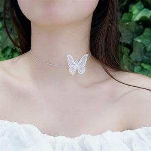Lacey Butterfly Collar Necklace