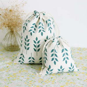 Leafy Cotton Handy Pouch