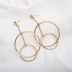 Double Drop Dangle Earrings