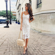 Load image into Gallery viewer, 2019 New Women's Lace Two-Tier Fishtail Dress Summer Stylish Sleeveless Tight Solid-Color Strapless High-waist Sexy Dress