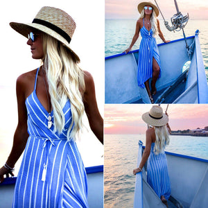 Spaghetti Halter Evening Party Casual Dress