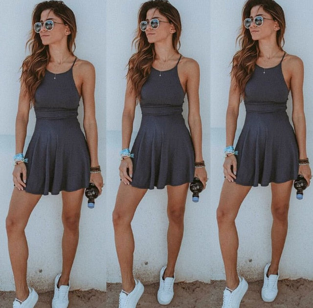 Summer Style Lining Casual Dress