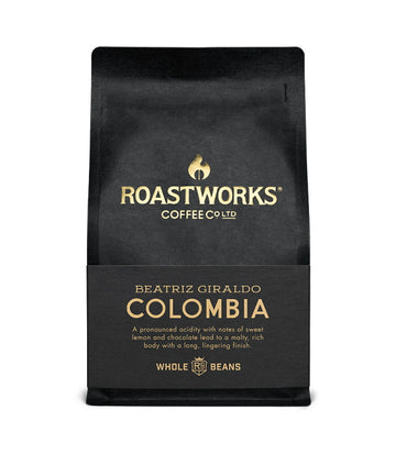Roastworks Colombia Wholebean Coffee (200g)