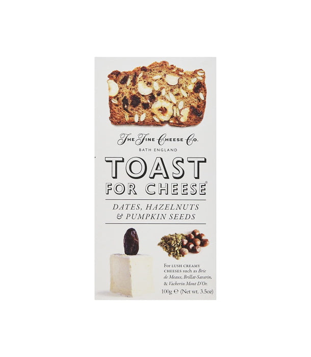 Toast for Cheese with Dates, Hazelnuts, and Pumpkin Seeds (100g)