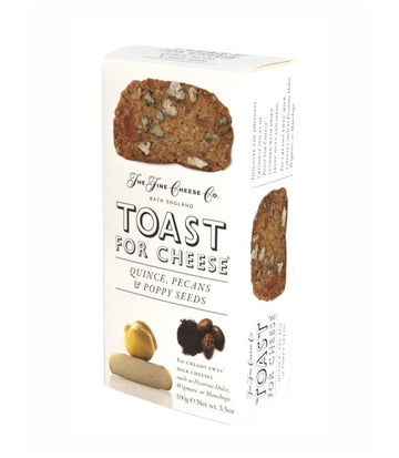Toast for Cheese with Quince, Pecans, and Poppy Seeds (100g)