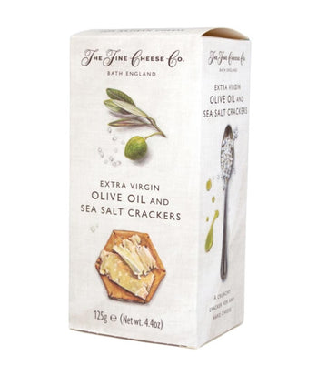 Fine Cheese Company Olive Oil and Sea Salt Crackers (125g)