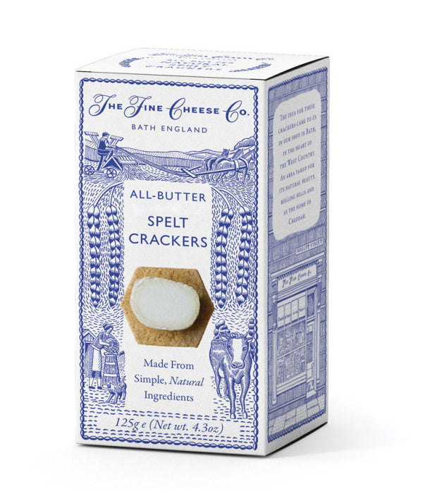 Fine Cheese Company All Butter Spelt Crackers (125g)
