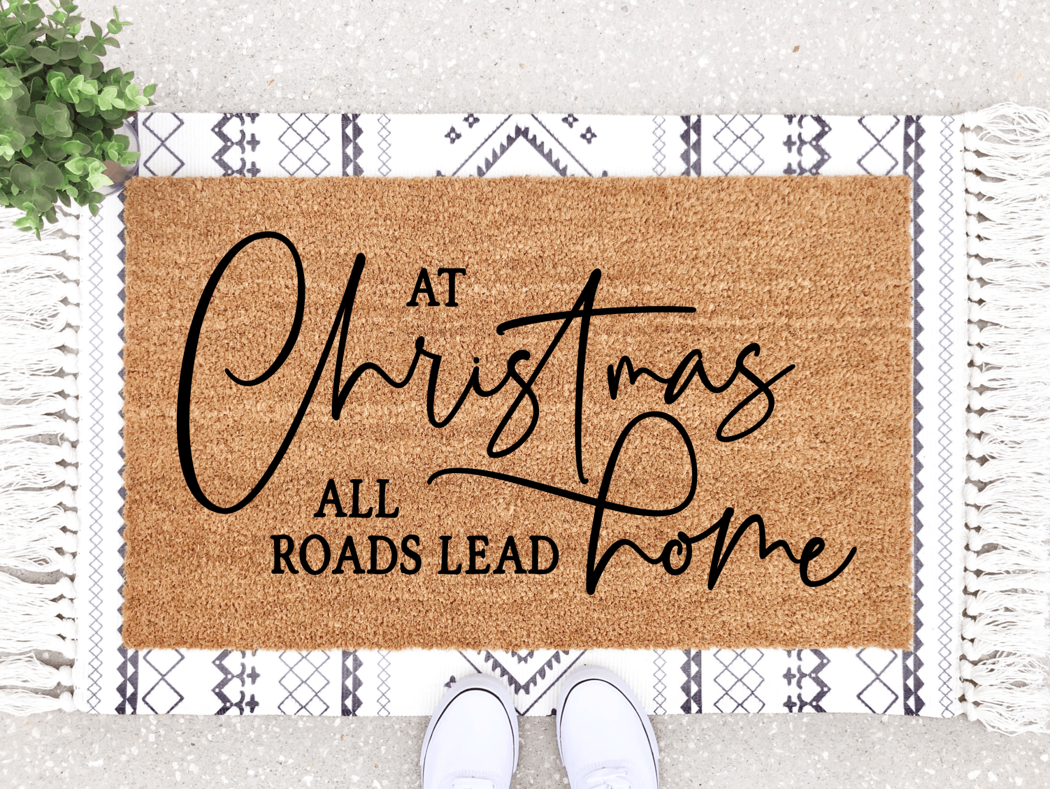 All Roads Lead Home Doormat