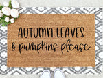 Load image into Gallery viewer, Autumn Leaves & Pumpkins Please Doormat