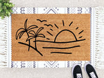 Load image into Gallery viewer, Beach Scene Doormat