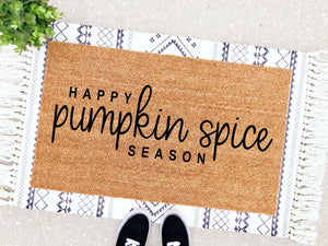 Happy Pumpkin Spice Season Doormat