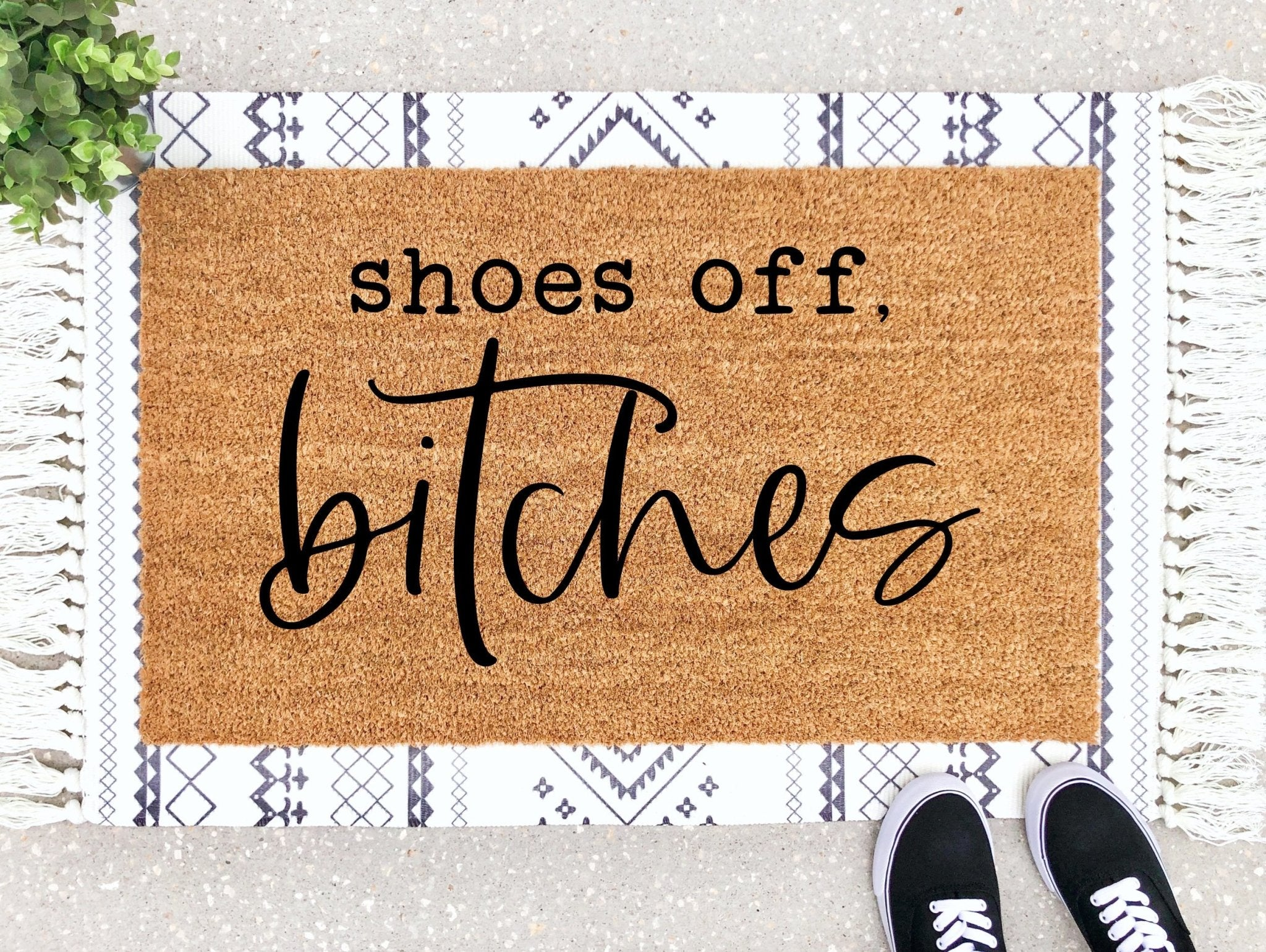 Shoes Off Bitches Doormat
