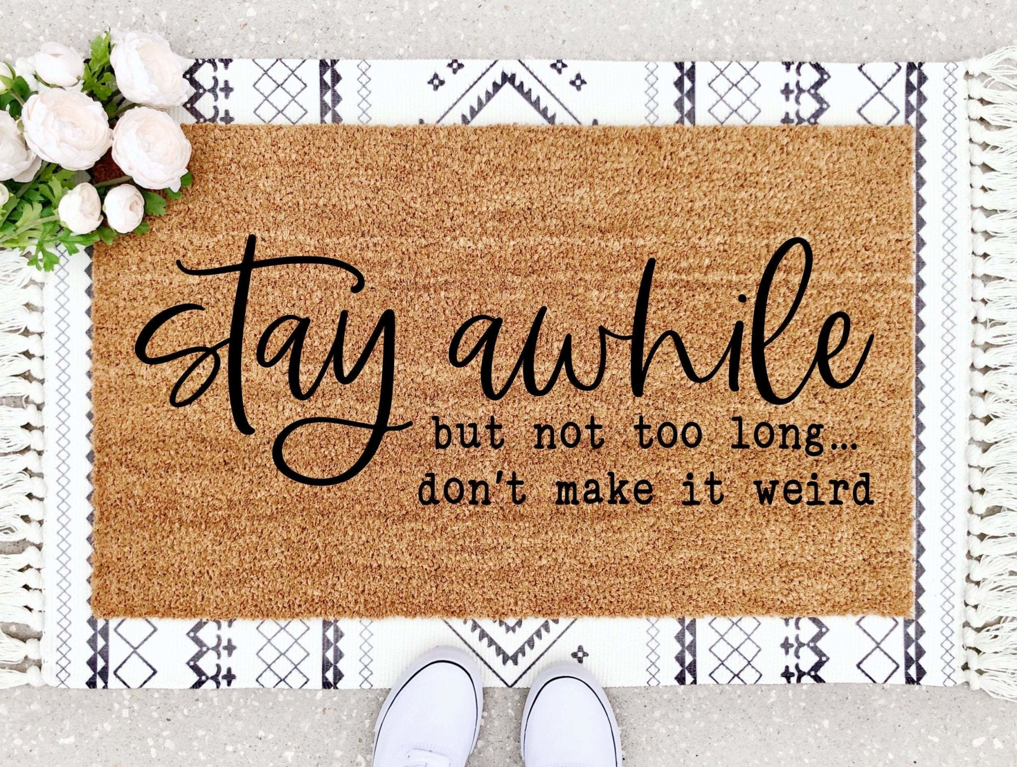 Stay Awhile Doormat