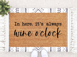 Wine O'clock Doormat