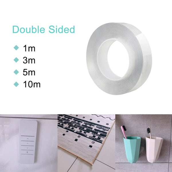 houseandwares.com Reusable Double Sided Transparent Tape freeshipping - houseandwares.com