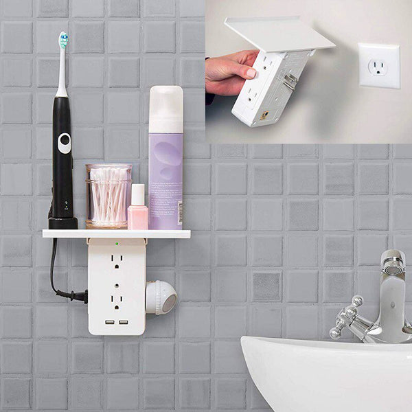 houseandwares.com 8- US Standard Multi-function Outlet Rack With USB And Shelf freeshipping - houseandwares.com