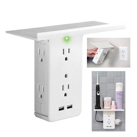 8- US Standard Multi-function Outlet Rack With USB And Shelf