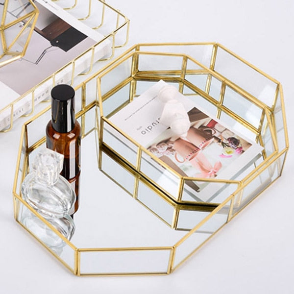 houseandwares.com Brass Mirrored Tray freeshipping - houseandwares.com