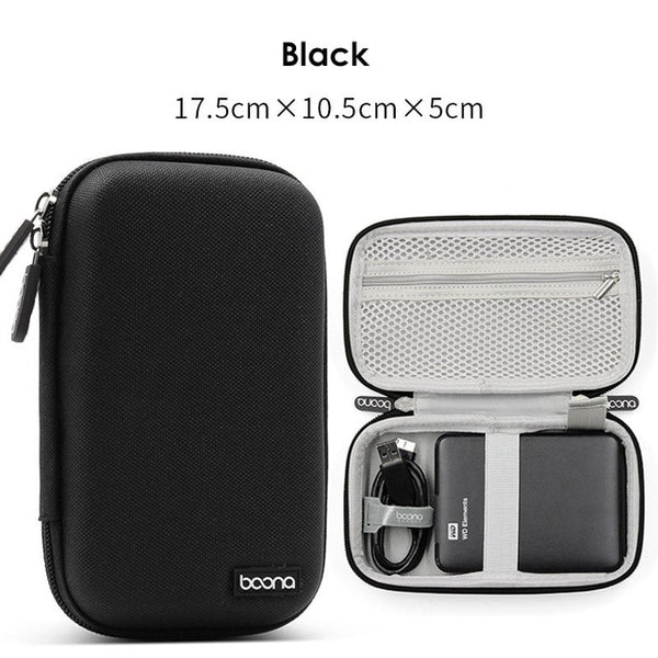 Hard Shell Digital Gadgets Storage Bag for Mac Adapter Mouse Data Cable Earphone HDD Electronics Gadgets Organizer Case