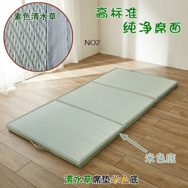 Folding Japanese Comfortable  Tatami Mattress Mat Rectangle Large Foldable Floor Straw Mat For  Sleeping Tatami Mat Flooring