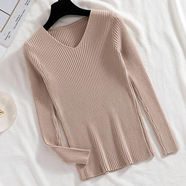 Long Sleeve Knitted Warm Sweater Women Pullover Korean