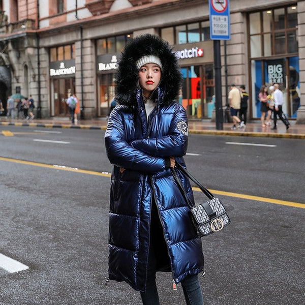 Oversize blue down jackets