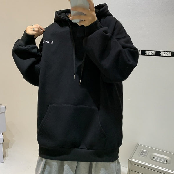 Mens Oversized Korean Harajuku Sweatshirts 7 Colors Black Oversized Hoodie