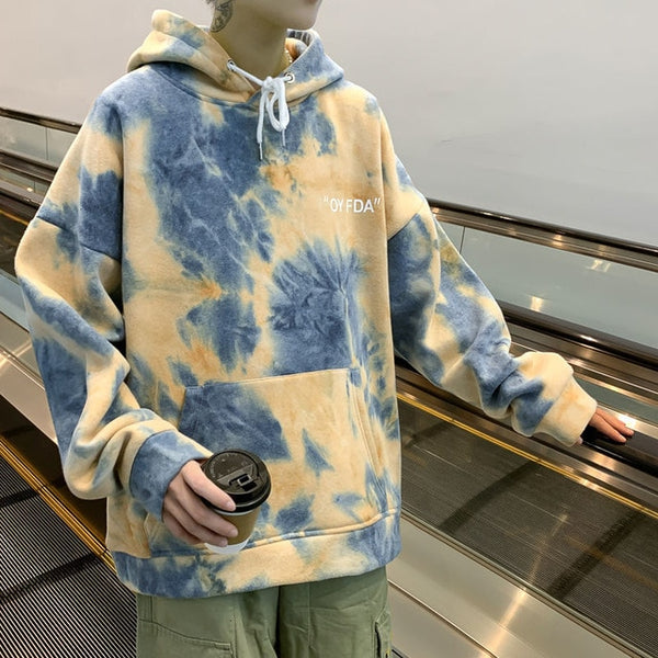 New Fashion Tie-dyed Men Hoodies