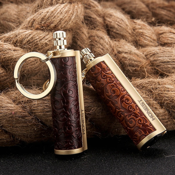 Camping Lighter Metal Permanent Match Lighter Cigarette Lighters Smoking Accessories Gadgets for Men Outdoor Waterproof