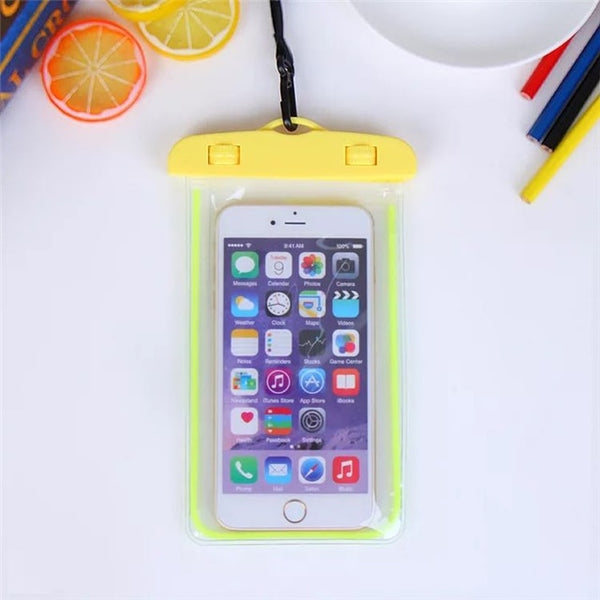 Luminous Waterproof Pouch Swimming Gadget Beach Dry 6 inch  Phone Bag For iPhone 11 Pro Xs Max XR 8 7 Samsung S9