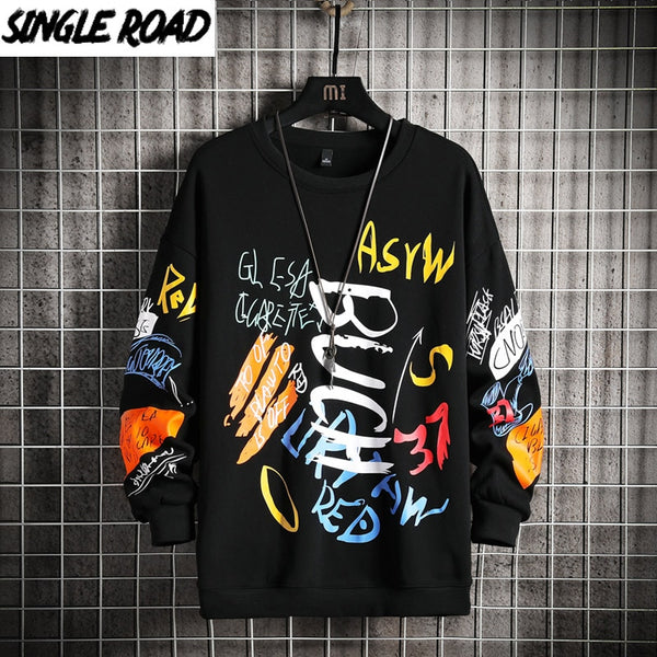 Japanese Streetwear Hip Hop Black Hoodie Men Sweatshirts