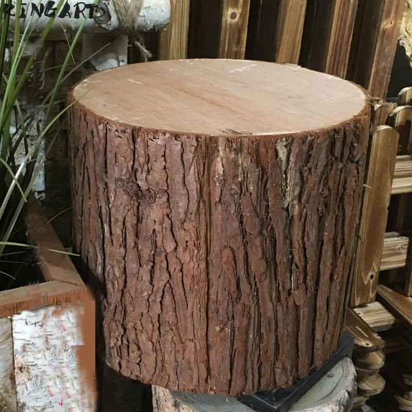 Retro Bar Stool Photo Shoot Fir Bark Tree Stump Stool Bar Chair Wood Stool  Photographic Props Wedding Wood