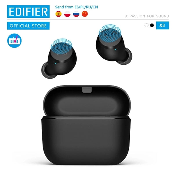 EDIFIER X3 TWS Wireless Bluetooth Earphone bluetooth 5.0 voice assistant touch control voice assistant up to 24hrs playback