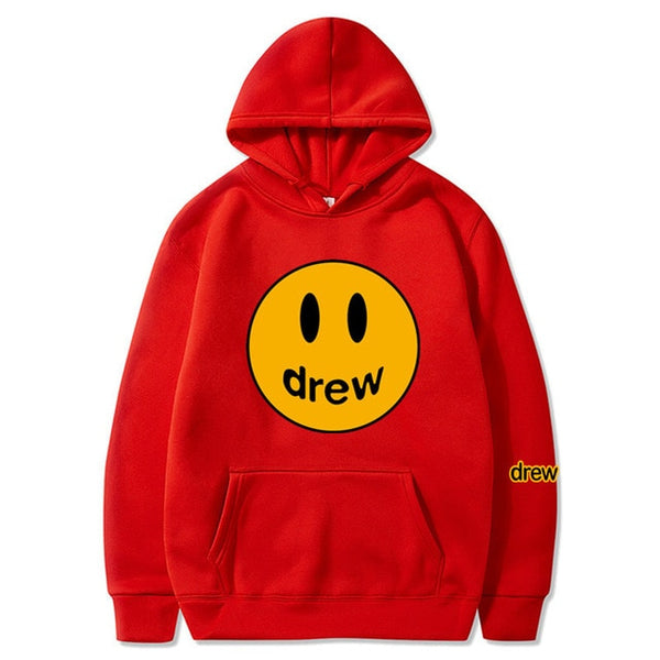 Fashion Men Hoodie Justin Bieber Printedmiley Face For Men
