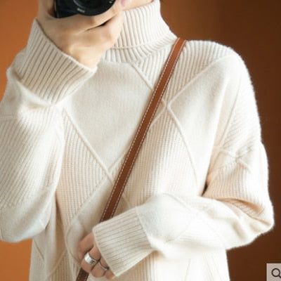 Winter new women's pullover sweater thickened warmth Korean Style