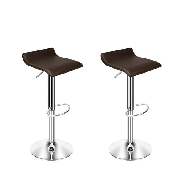 Set of 4 Modern Dining Chairs Soft PU Leather Counter Bar Stools Adjustable Chrome Swivel Stool for Kitchen Pub Salon Office