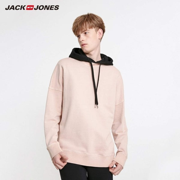JackJones Men's Colorful Comfortable Fabric Oversized Crew Neck Basic Sweatshirt