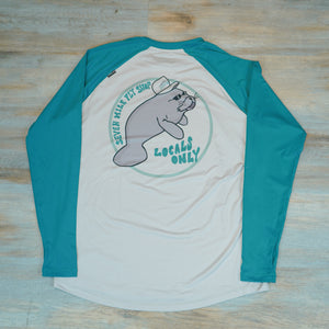 SWC x Seven Mile Fly Shop 'Locals Only' Manatee Clearwater Raglan