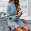Long Sleeve Chiffon Mini Dress